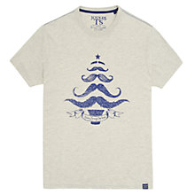 Buy Joules Tashing Through the Snow Graphic Print T-Shirt, Antique Cream Snow Online at johnlewis.com