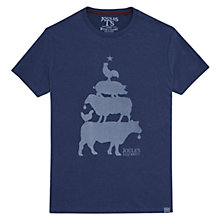 Buy Joules Animal Graphic Print Christmas T-Shirt, Navy Online at johnlewis.com