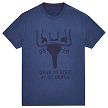 Buy Joules Grab The Bike T-Shirt, French Navy Marl Online at johnlewis.com