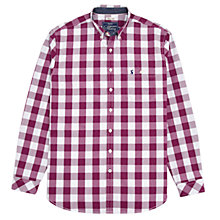 Buy Joules Hewney Regular Fit Shirt, Dark Purple Gingham Online at johnlewis.com