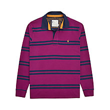 Buy Joules Woodall Stripe Rugby Shirt, Dark Purple Stripe Online at johnlewis.com