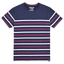 Buy Joules Skippteron Striped T-Shirt, French Navy/Dark Purple Online at johnlewis.com
