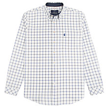Buy Joules Wilby Classic Fit Oxford Shirt, Blue Overcheck Online at johnlewis.com