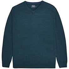 Buy Joules Retford V-Neck Jumper, Dark Teal Marl Online at johnlewis.com