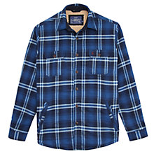 Buy Joules Check Classic Fit Overshirt, Navy Online at johnlewis.com