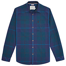 Buy Joules Lyndhurst Soft Slim Fit Shirt, Dark Teal Tartan Online at johnlewis.com