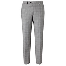 Buy John Lewis Super 100s Wool Cashmere Milled Check Tailored Suit Trousers, Grey Online at johnlewis.com