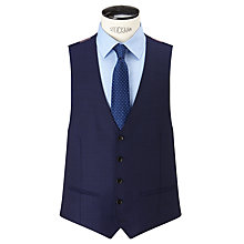 Buy John Lewis Super 100s Wool Birdseye Tailored Waistcoat, Blue Online at johnlewis.com