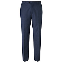 Buy John Lewis Super 100s Wool Flannel Tailored Suit Trousers, Blue Online at johnlewis.com
