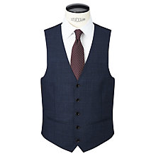 Buy John Lewis Prince of Wales Check Tailored Waistcoat, Navy Online at johnlewis.com