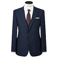 Buy John Lewis Prince of Wales Check Tailored Suit Jacket, Navy Online at johnlewis.com