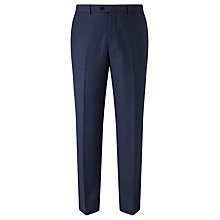 Buy John Lewis Super 100s Wool Milled Birdseye Tailored Suit Trousers, Blue Online at johnlewis.com