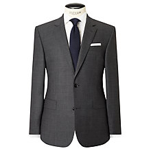 Buy John Lewis Woven in Italy Half Canvas Super 160s Wool Birdseye Tailored Suit Jacket, Grey Online at johnlewis.com