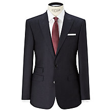 Buy John Lewis Italian Super 110s Wool Milled Stripe Tailored Suit Jacket, Navy Online at johnlewis.com