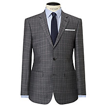 Buy John Lewis Italian Super 110s Wool Milled Check Tailored Suit Jacket, Grey Online at johnlewis.com