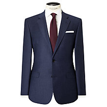 Buy John Lewis Woven in Italy Half Canvas Super 160s Wool Birdseye Tailored Suit Jacket, Airforce Blue Online at johnlewis.com