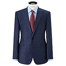 Buy John Lewis Super 100s Wool Flannel Tailored Suit Jacket, Blue Online at johnlewis.com