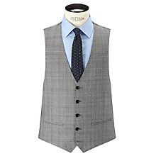 Buy John Lewis Super 100s Wool Cashmere Milled Check Tailored Waistcoat, Grey Online at johnlewis.com