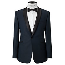 Buy Kin by John Lewis Oden Jacquard Slim Dinner Suit Jacket, Teal Online at johnlewis.com