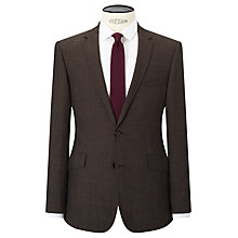 Buy Kin by John Lewis Lincoln Textured Weave Slim Fit Suit Jacket, Brown Online at johnlewis.com