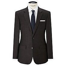 Buy John Lewis Woven in Italy Milled Birdseye Tailored Suit Jacket, Brown Online at johnlewis.com