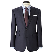 Buy John Lewis Melange Super 100s Wool Tailored Suit Jacket, Blue Online at johnlewis.com