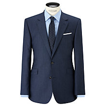 Buy John Lewis Super 100s Wool Milled Birdseye Tailored Suit Jacket, Blue Online at johnlewis.com