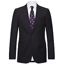 Buy Jaeger Wool Plain Twill Modern Suit Jacket, Navy Online at johnlewis.com