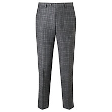 Buy John Lewis Italian Super 110s Wool Milled Check Tailored Suit Trousers, Grey Online at johnlewis.com