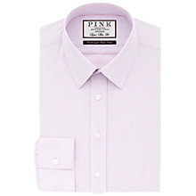 Buy Thomas Pink Samuels Check Super Slim Fit Shirt, Pink/Blue Online at johnlewis.com