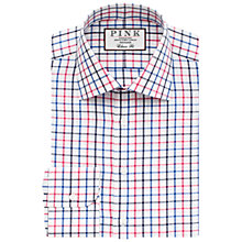 Buy Thomas Pink Meyers Classic Fit Check Shirt, Pink/White Online at johnlewis.com