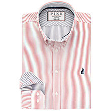 Buy Thomas Pink Fenn Stripe Slim Fit Shirt, Red/Navy/White Online at johnlewis.com