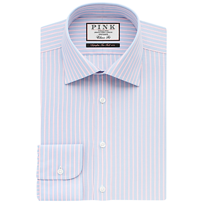 Image of Thomas Pink Ross Stripe XL Sleeve Classic Fit Shirt