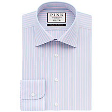 Buy Thomas Pink Ross Stripe Shirt, Blue/Pink Online at johnlewis.com