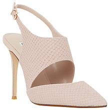 Buy Dune Caprice Cut Out Sling Back Court Shoes, Blush Reptile Online at johnlewis.com