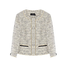 Buy Karen Millen Graphic Tweed Jacket, Black/White Online at johnlewis.com