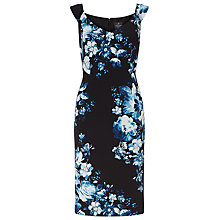 Buy Adrianna Papell Sweetheart Neckline Printed Sheath Dress, Black/Blue Online at johnlewis.com