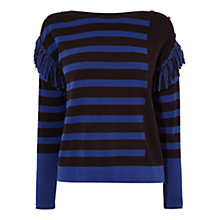 Buy Karen Millen Mixed Striped Jumper, Black/Multi Online at johnlewis.com