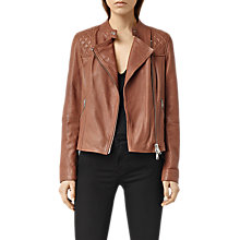 Buy AllSaints Leather Randall Jacket Online at johnlewis.com