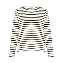 Buy Jigsaw Cotton Breton Top Online at johnlewis.com