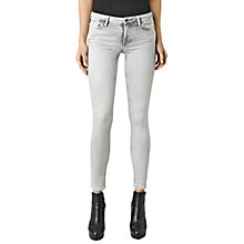 Buy AllSaints Mast Bleached Skinny Jeans, Grey Online at johnlewis.com