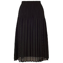 Buy Chesca Lace Crush Skirt, Black Online at johnlewis.com