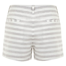 Buy Mint Velvet Striped Shorts, Grey Online at johnlewis.com