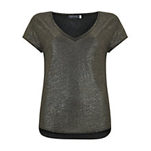 Buy Mint Velvet Shimmer Slouch T-Shirt Online at johnlewis.com