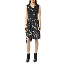 Buy AllSaints Vista Canna Dress, Black Online at johnlewis.com