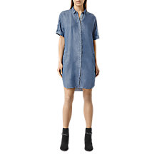 Buy AllSaints Mel Dress, Light Indigo Blue Online at johnlewis.com