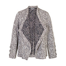 Buy Chesca Jacquard Button Trim Jacket, Navy/Ivory Online at johnlewis.com