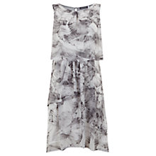 Buy Mint Velvet Nicolette Print Layered Dress, Grey/Multi Online at johnlewis.com