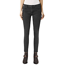 Buy AllSaints Mast Skinny Jeans, Marble Black Online at johnlewis.com
