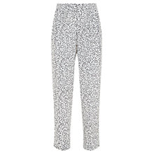Buy Mint Velvet Aspen Print Tapered Trousers, White/Black Online at johnlewis.com